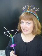 #551Mega Martini Crown $150 & #540 Martini Glass Scepter $40